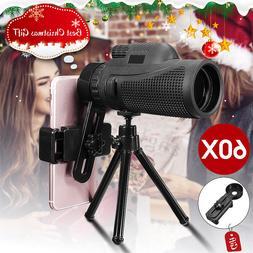 40x60 Telephoto Monocular Telescope Camera Lens + Phone Clip