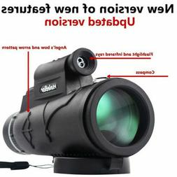 50x60 Portable HD Optical Monocular Telescope Day/Night Visi