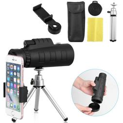 50X60 Zoom Optical HD Lens Monocular Telescope+ Tripod+ Clip