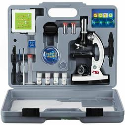 AmScope 52pc 120X-1200X Starter Compound Microscope Science