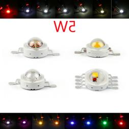 5W LED Beads Lamp Diodes High Power Chip Whi Red Blu Grn IR