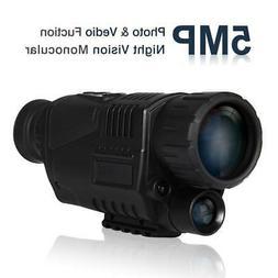 5x40 Infrared Digital Night Vision Monocular Telescope Dual