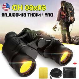 60x60 Zoom Binoculars Day Night Vision Travel Outdoor HD Hun