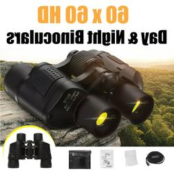 60X60 Zoom Day Night Vision Outdoor Travel HD Binoculars Hun
