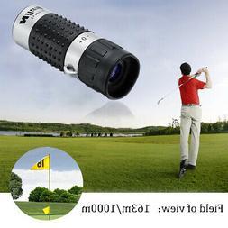 7 x 18 Golf Monocular Rangefinder Distance Meter Finder Pock