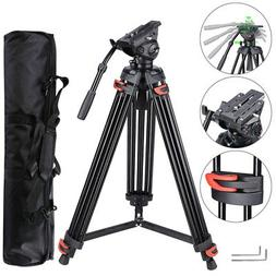 "71"" Professional DV Video Camera Alu Adjustable Tripod Stand"