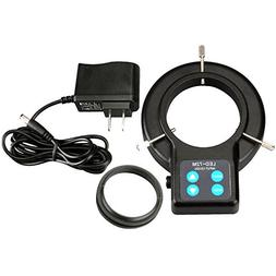AmScope LED-72AM 72 LED Compact Four-Zone Microscope Ring Li