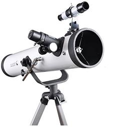 Solomark 76700 Reflector Telescope with Tripod and 1.25 Inch