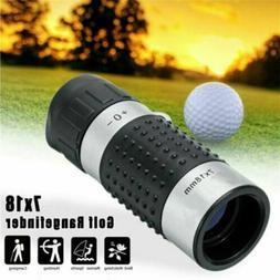 7x18 Golf Monocular Rangefinder Distance Meter Finder Binocu