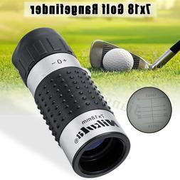 7x18 Golf Monocular Rangefinder Distance Meter Finder Measur