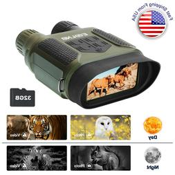 "7X31 Night Vision Binoculars IR Scope with 2"" TFT LCD 32G TF"