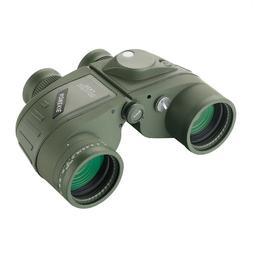 7x50 Military Waterproof Floating Marine Binoculars w/ Range
