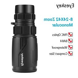 Eyeskey 8-24x42 Zoom Optics Monocular Waterproof FMC Fog Pro