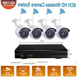8-Channel 1080P NVR Outdoor IR-CUT WIFI Camera Home Security