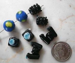 8 Travel series glass lamp work handmade beads camera earth