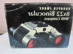 Sharper Image 8 X 22 Sliding Compact Binoculars with Compass