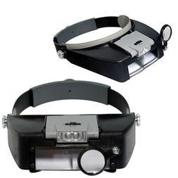 Jeweler Magnifier Headband Headset LED Head Lamp Light Magni