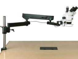 AmScope 3.5X-225X Trinocular Articulating Arm Pillar Clamp 1
