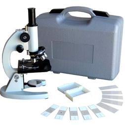 AmScope M60A-ABS-PB10 40X-640X Metal Body Glass Lens Biology