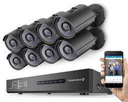 Amcrest ProHD 720P 8CH Video Security System - Eight 1.0-Meg