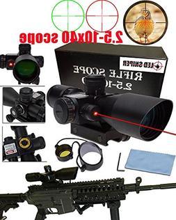 BTC Tactical 2.5-10x40 Rifle Scope with Illuminated Range Fi