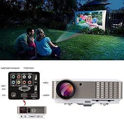 EUG Full HD LCD LED Digital Video Projector 3900 Lumen 1080P