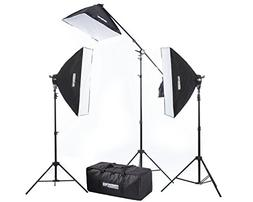 "Fovitec 3x 20""x28"" Softbox Lighting Kit w/ 2500 W Total Outp"