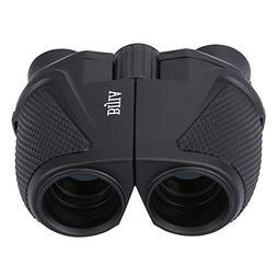 G4Free 12x25 Compact Binoculars,Large Eyepiece Super High-Po