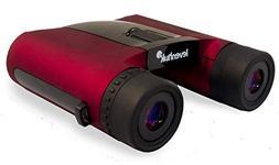 Levenhuk Rainbow 8x25 Red Berry Binoculars roof Prism 8X fog