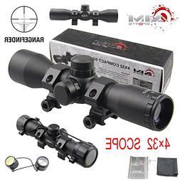 TACFUN AIM Sports Tactical 4X32 Compact .223 .308 Scope/w Ri