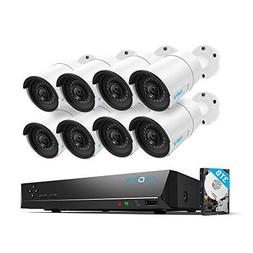 Reolink 4MP 16CH PoE Video Surveillance System, 8 x Wired Ou