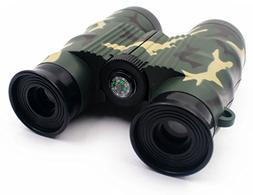 7TECH Adjustable Compass Binoculars For Kids Camouflage Educ
