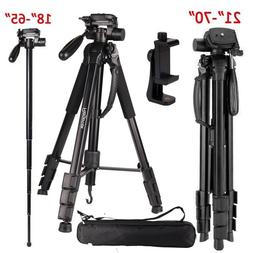 Regetek Camera Tripod Travel Monopod  Adjustable Stand with