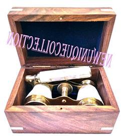 Antique Opera Glasses Binocular Brass Hand Made Monocular vi
