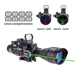 Pinty Rifle Scope 4-12x50EG Rangefinder Illuminated Optics w