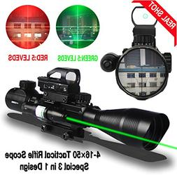 AR15 Rifle Scope Tactical Combo 4-12x50EG Dual Illuminated a