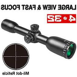 LEBO 4x32 AR15 Rifle Scopes Mil-dot Reticle HD Compact Cross