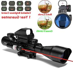 AR15 Tactical Rifle Scope 4-12x50EG Dual Illuminated with Re
