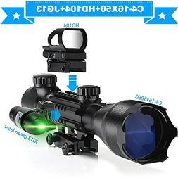 AR15 Tactical Rifle Scope 4-16x50EG Dual Illuminated Rifle O