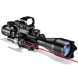 AR15 Tactical Rifle Scopes 4-16X50EG Dual Ill Optical Reticl