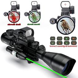 AR15 Tactical Rifle Scopes 4-12x50EG Dual Illuminated Rifle