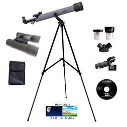 600mm x 50mm Astro/Terrestrial Telescope - 8x21mm Binocular