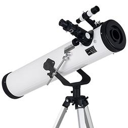 TOPMAX astronomical Reflector Telescope with Tripod and Eyep