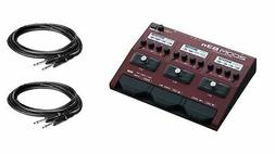 Zoom B3N w/ 2 Instrument Cables Bundle