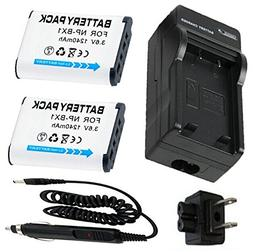 Battery  + Charger for Sony Cyber-shot DSC-WX300, DSC-WX350,