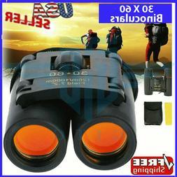 Binoculars 30x60 Zoom Outdoor Travel Compact Folding Telesco