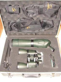 DUCKS UNLIMITED BINOCULARS & SPOTTING SCOPE IN CASE HUNTING