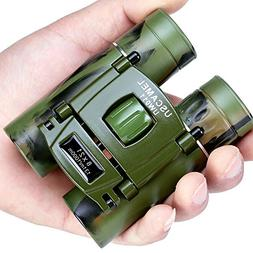 USCAMEL Binoculars Compact, 8x21 Folding Pocket Size, Travel