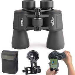 10X 50 Binoculars Smartphone Adapter Kit for Adults and Kids