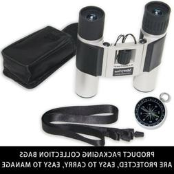 Binoculars with 10x25 Portable High Definition and Compass b